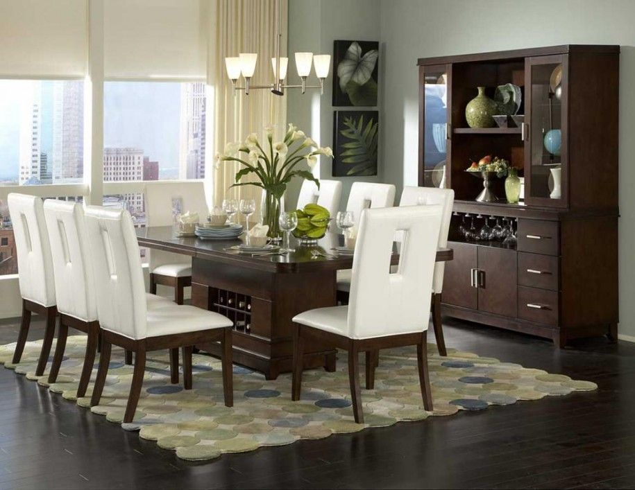 Contemporary Dining Room Decorating Ideas With Wooden Flooring Simple Modern Square Table