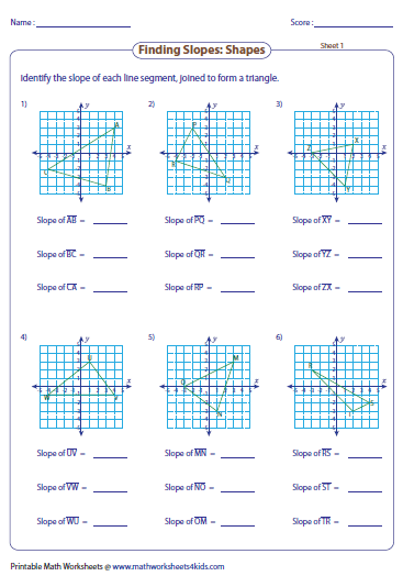 Finding Slope: Shapes | CRM 4 - Slope | Pinterest | Worksheets