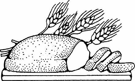 Bread Breadboard And Wheat Raskraski Zerna Hleb