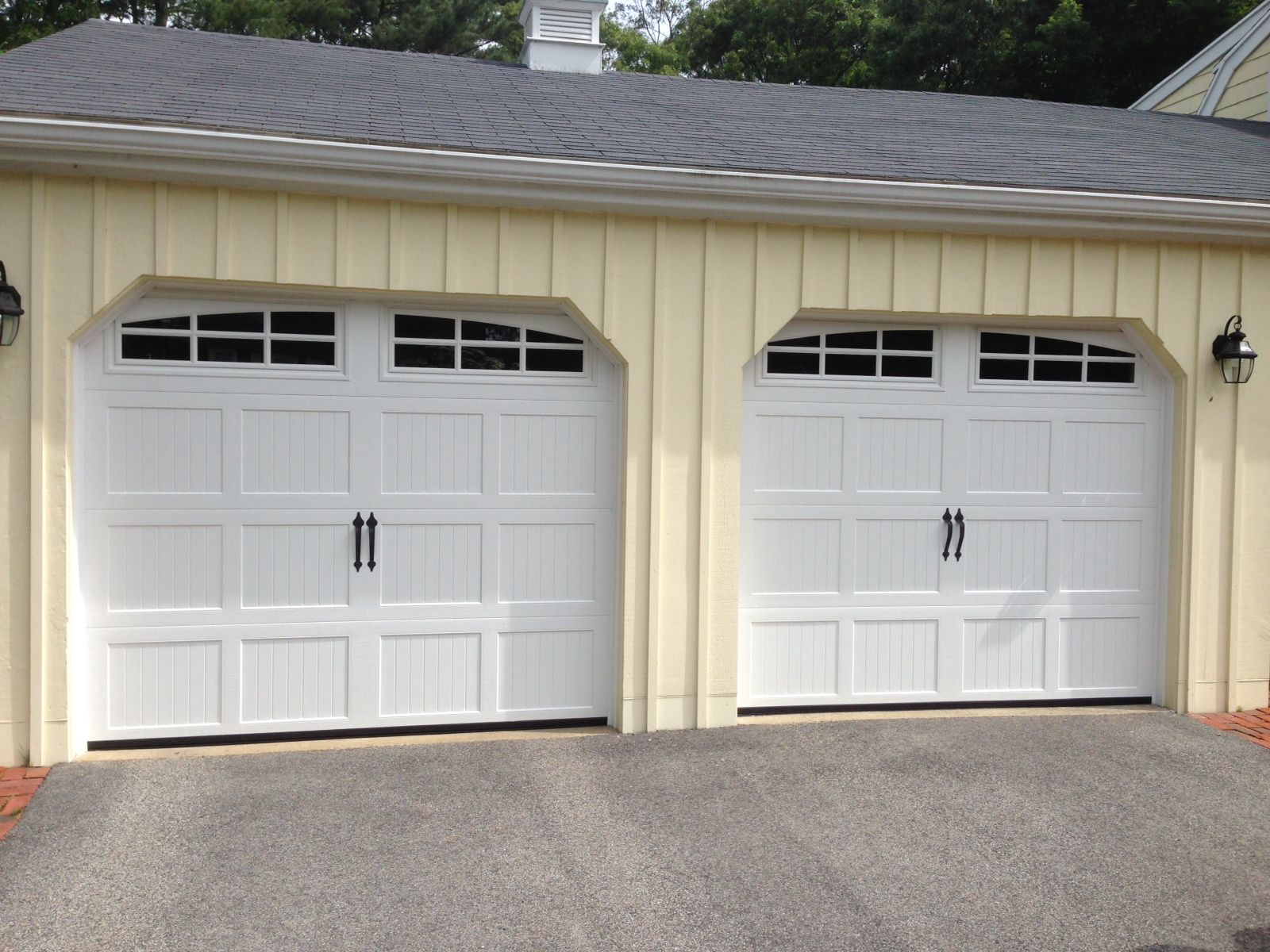 Haas Model 660 Steel Carriage House Style Garage Doors In