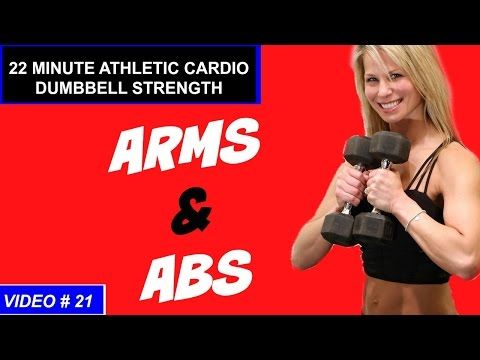 Superb 20 Min Cardio Strength ARMS And ABS Workout | Dumbbell And Full Body Workout    YouTube