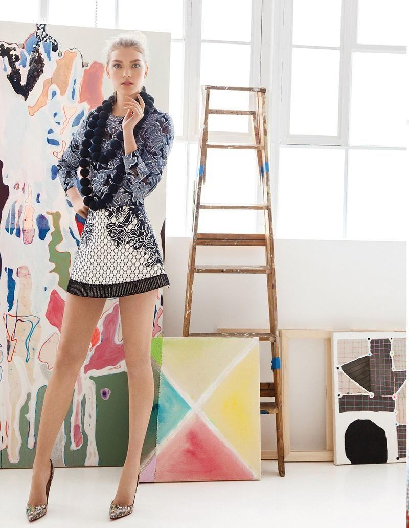 Vogue Mexico May 2014, Arizona Muse by Greg Lotus