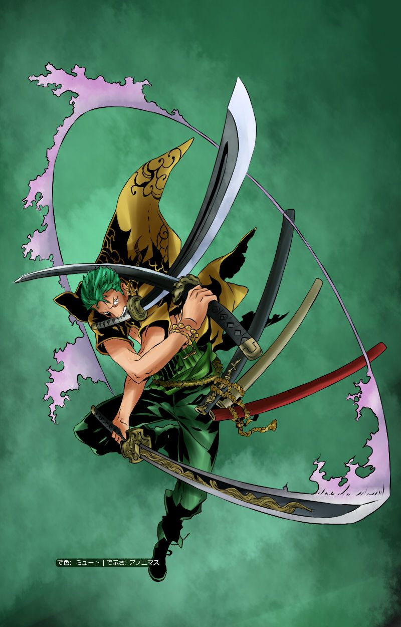 Pin De Kristopher Seeberger En Art Roronoa Zoro Sanji One