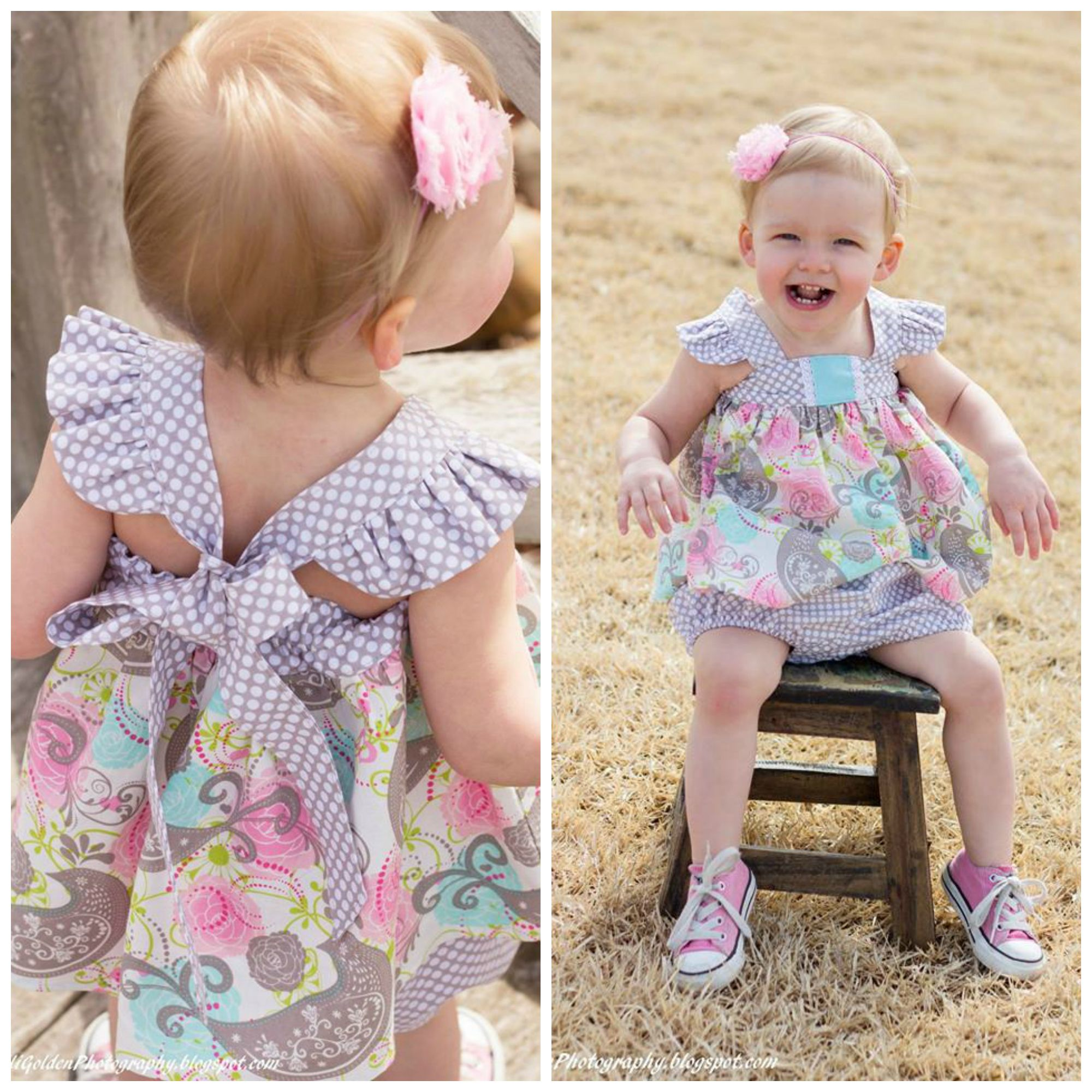 BABY Molly bubble romper, dress, top and bloomer
