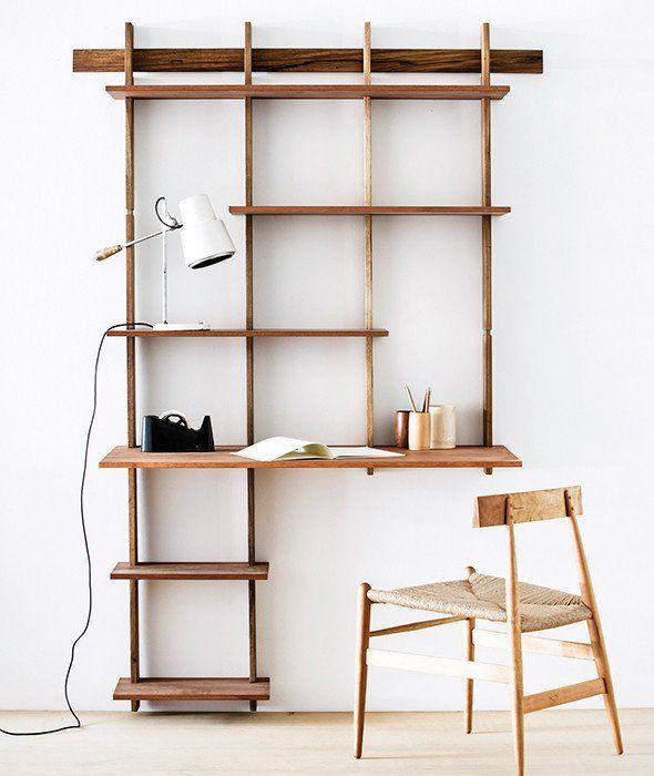 Sticotti Bookshelf + Desk Kit G   Bookshelf desk, Desks and Apartments