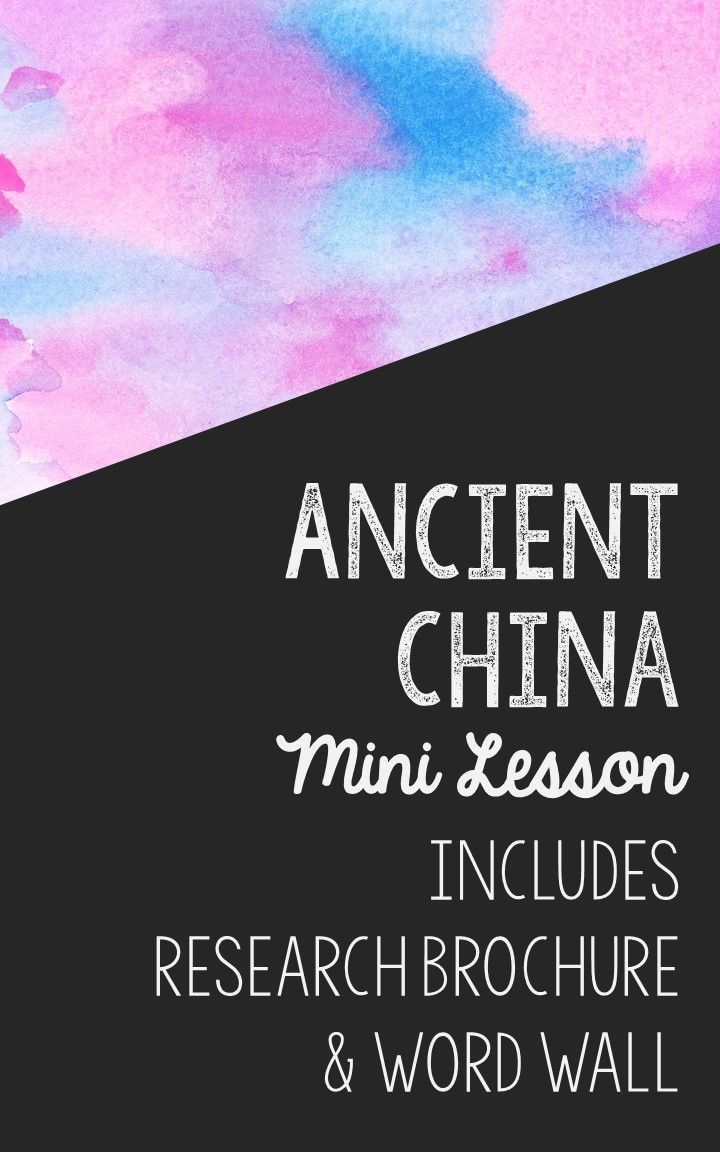 ancient china topics
