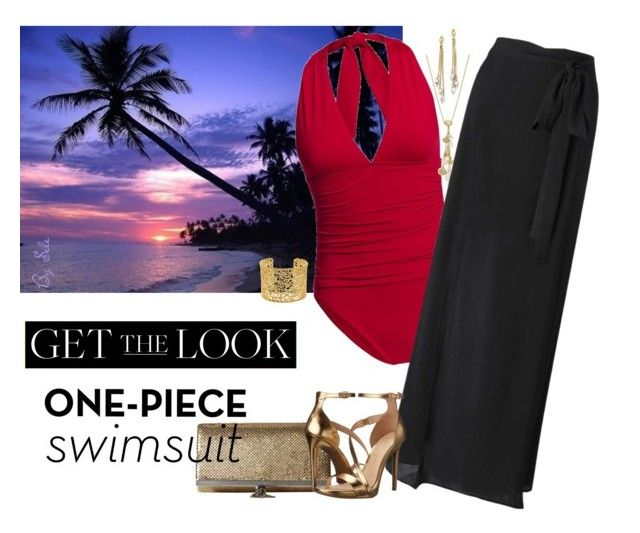 """""""Get the Look: Swimsuit Edition - Beach Party"""" by selene-cinzia ❤ liked on Polyvore featuring Canvas by Lands' End, Kate Spade, Miss Selfridge, Jessica McClintock, Jessica Simpson, Brooks Brothers, GetTheLook and Swimsuits"""