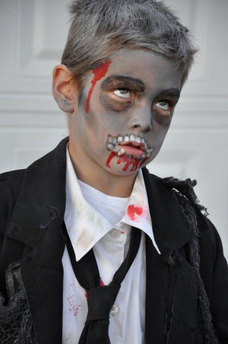 kleiner jung mit anzug als zombie verkleidet und geschminkt ich pinterest halloween. Black Bedroom Furniture Sets. Home Design Ideas