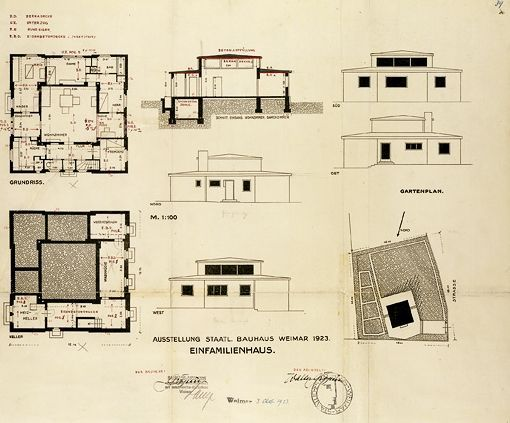 Good Georg Muche, Application For A Building Permit For The Haus Am Horn, 1923  Weimar