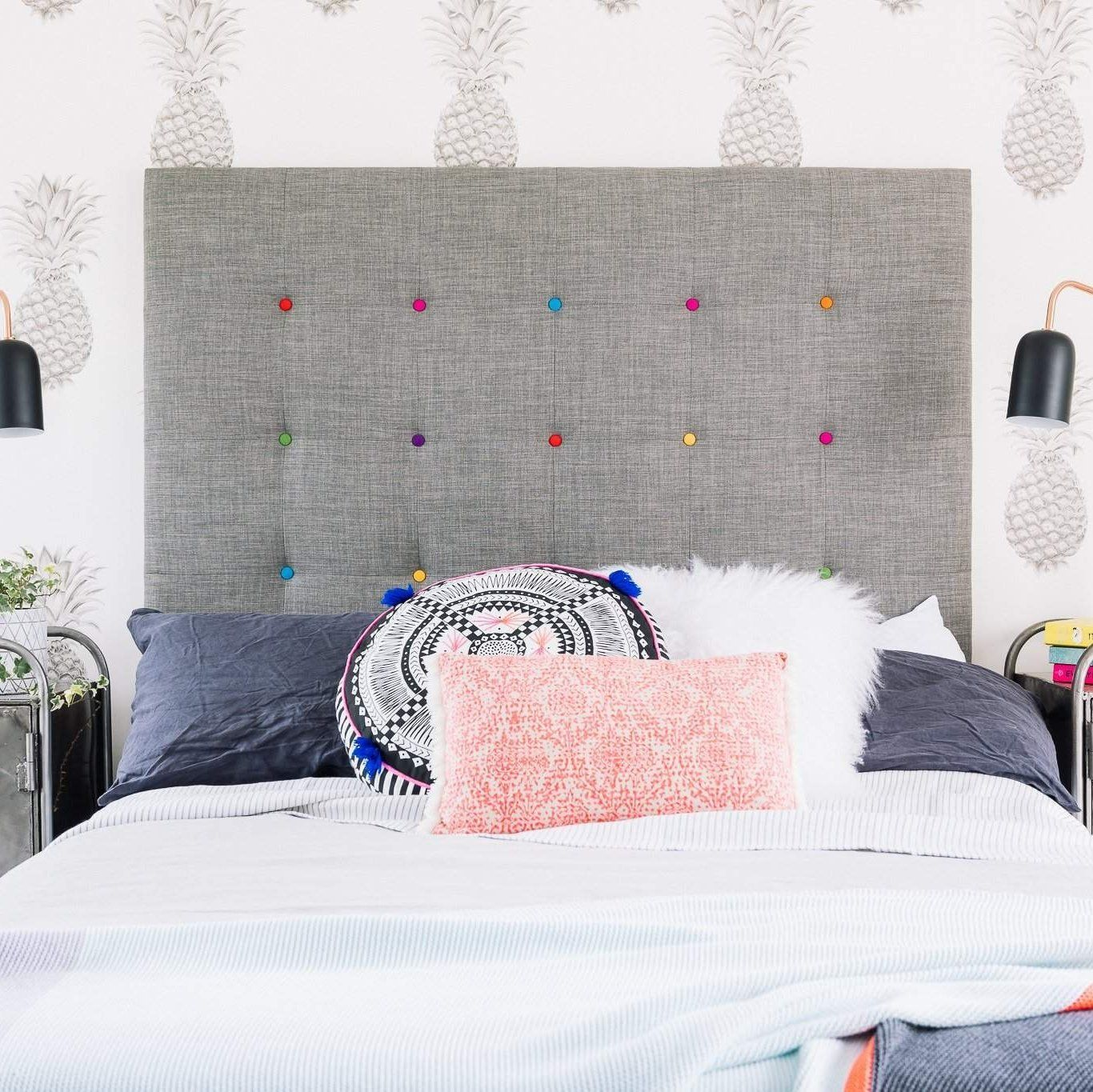 Button Pop design headboard in 2019 Headboards for beds