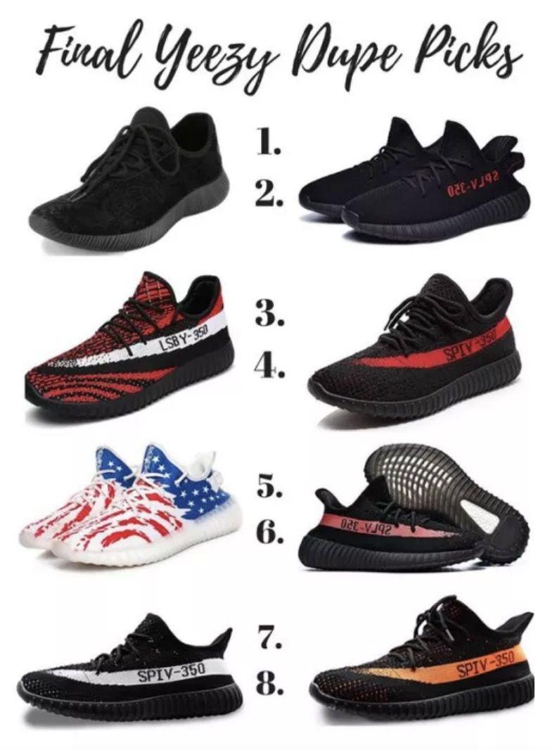 Yeezy Dupes \u0026 Yeezy Look Alike Shoes
