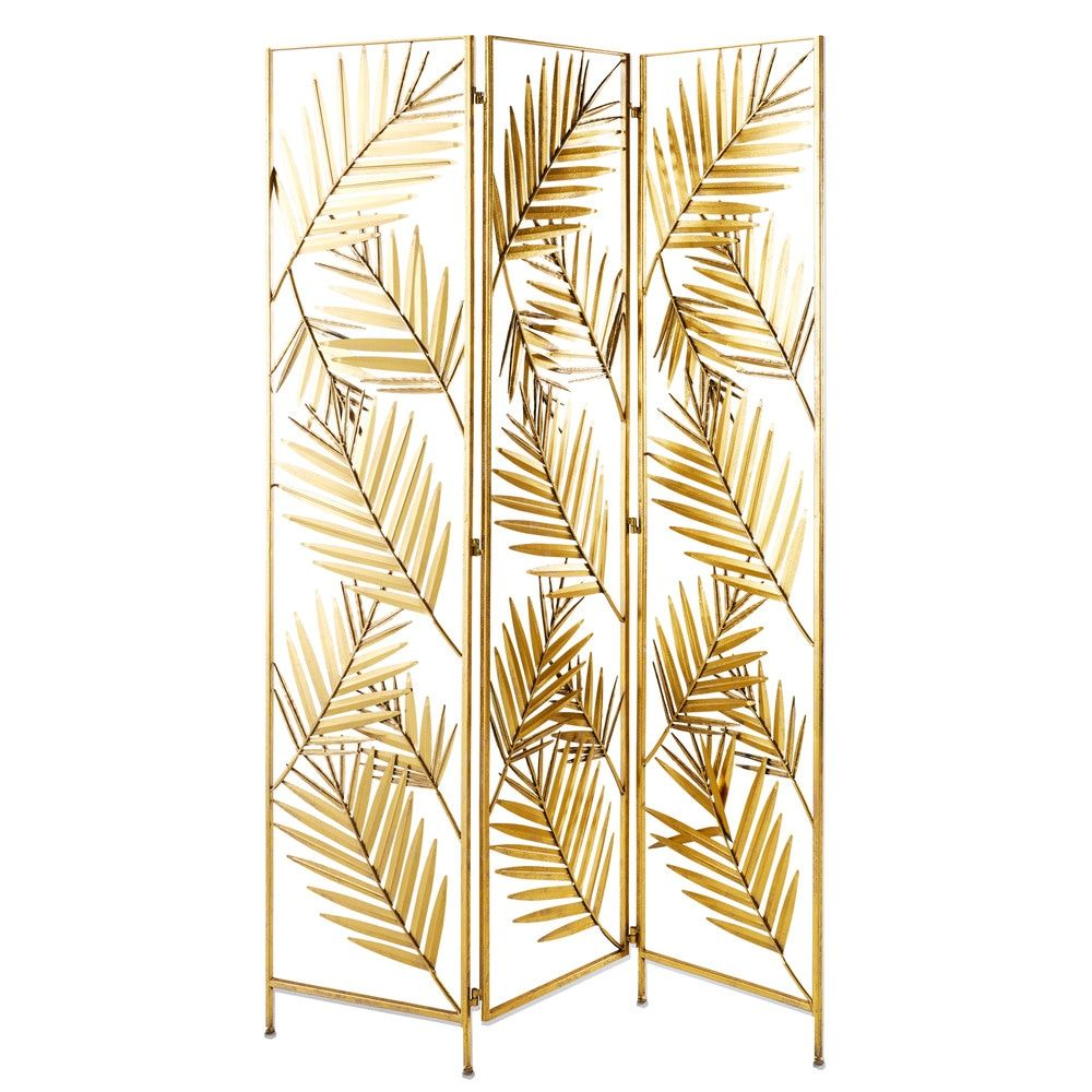 gold metal leaf screen maisons du monde