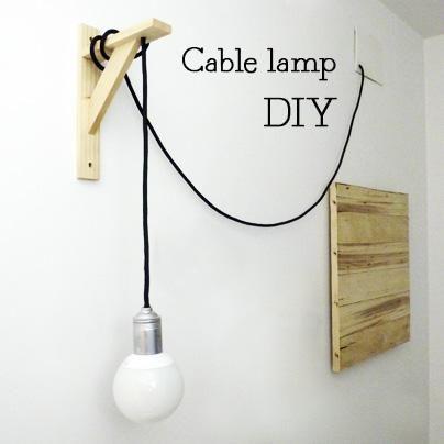 Diy cable lamp de marta o de c mo hacer una lampara de - Como hacer lamparas ...