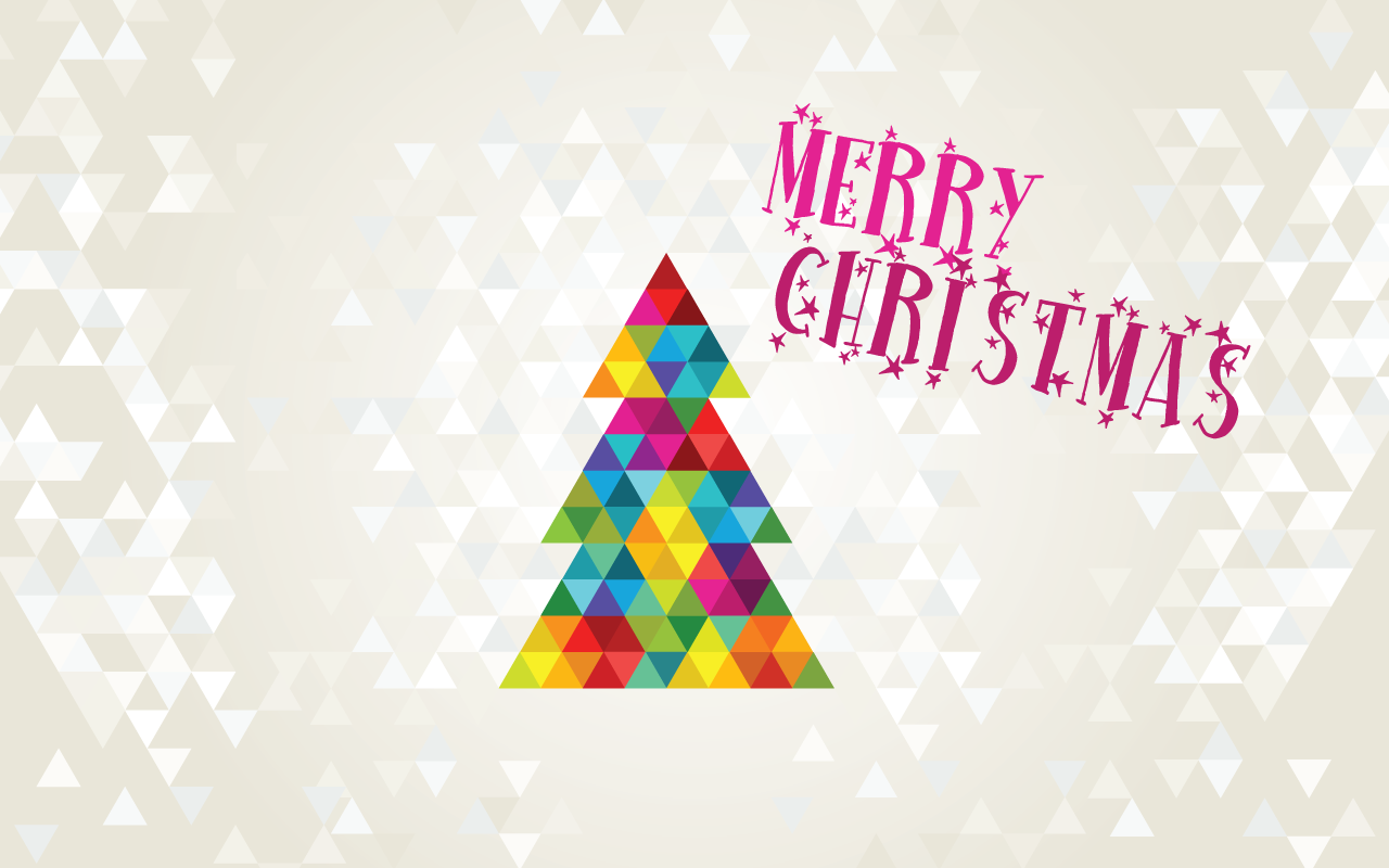 Colorful Geometric Christmas Tree