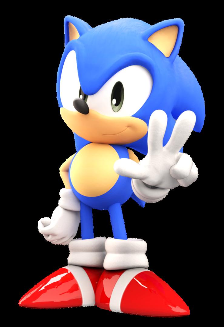 Classic Sonic V 2 Sonic Classic Sonic Sonic The Hedgehog