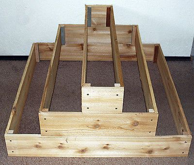 Cedar Planter Raised 3 Tier Garden Bed Free Shipping Tiered Garden Tiered Garden Boxes Garden Beds