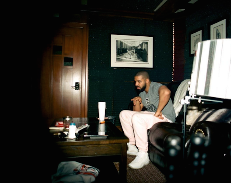 Drake is back in the studio today