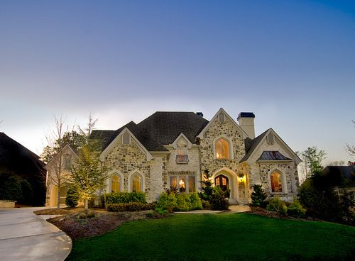 My First House Will Be All Brick Or Stone I Love This House Dream Home Design House Exterior House