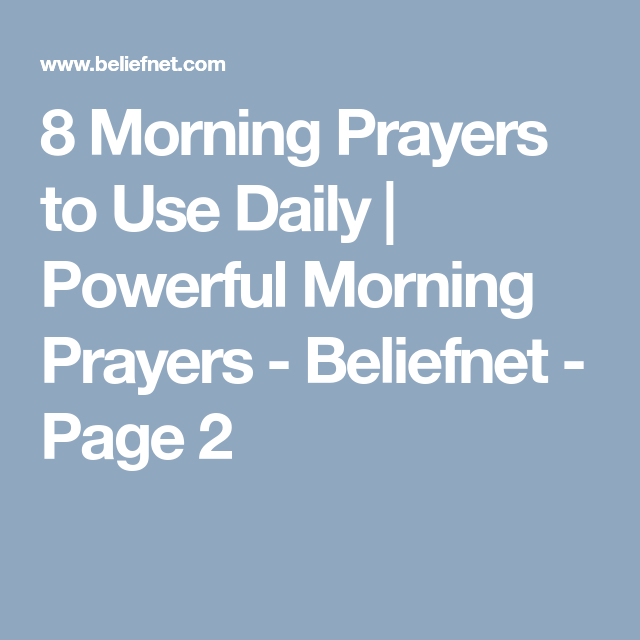 Start Your Day Off Right With These Uplifting Morning