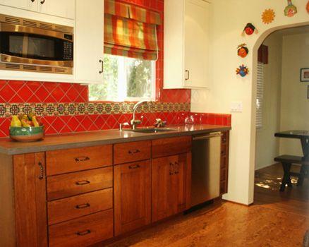 spanish backsplash kitchen   residential design - 1940's spanish