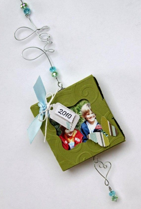 Christmas Holiday Ornament Kit/Mini Scrapbook Album Kit $20 @ http://www.etsy.com/listing/76216253/christmas-holiday-ornament-kitmini