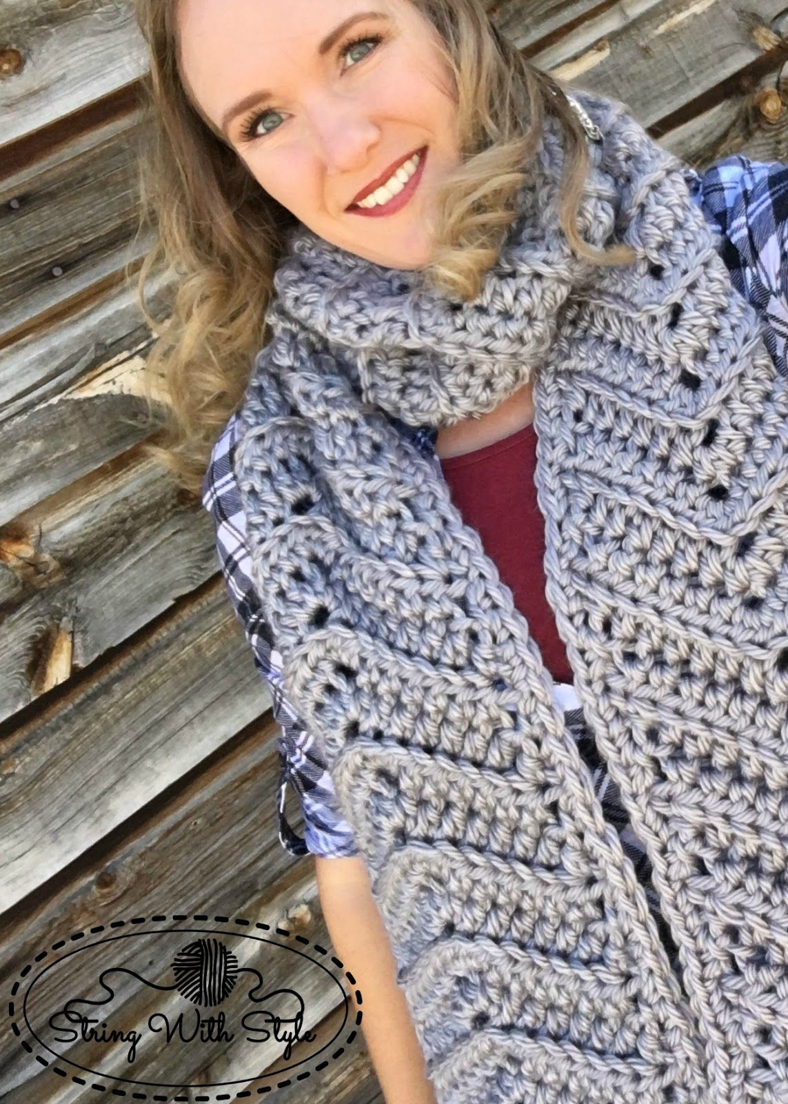 Chevron Love Super Scarf - free crochet pattern from String With ...