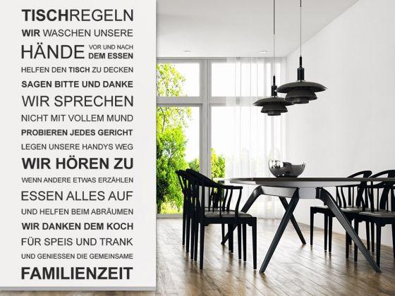 Tischregeln Spruchbanner   Wandtattoo, Küche esszimmer und ...