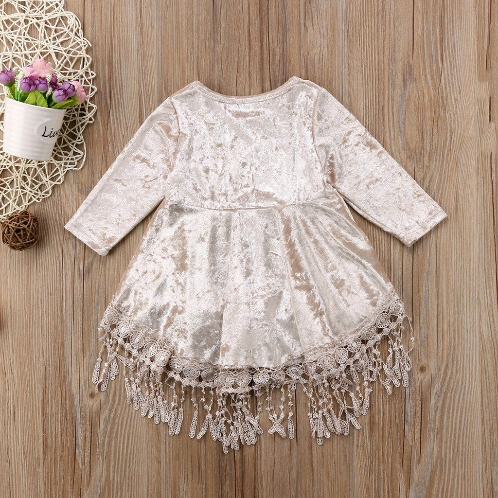 28cf361acc2a Buy Ivory Velvet Boho Baby Dress | 6M - 4T at Rock A Bye Baby Co ...