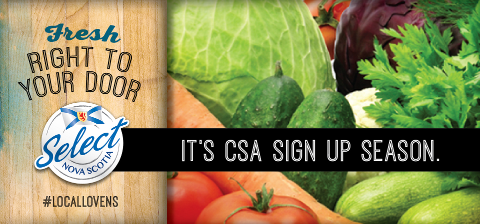 From the farm to you the easy way. Join a CSA. | Select Nova Scotia