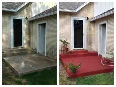 Twinkle Shine The West Porch Porch Remodel Painting Concrete Front Porch Design