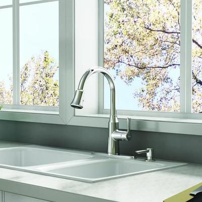 American Standard - Danoa 1 Handle Kitchen Faucet, Chrome ...