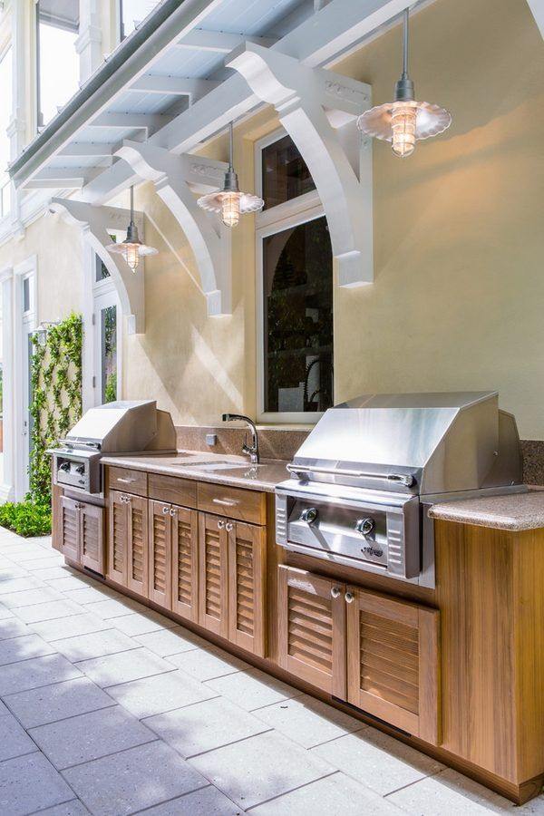 Outdoor Kitchen Cabinets Patio Furniture Ideas Grill Area Outdoor