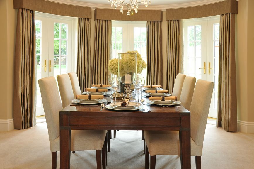 Dining RoomDining Room Decorating Ideas With Modern Window Curtains Beautiful Three Curtain And Drapery Panels As Well Kitchen