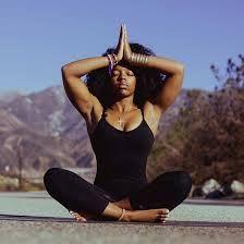 image result for black woman doing yoga  black girl yoga