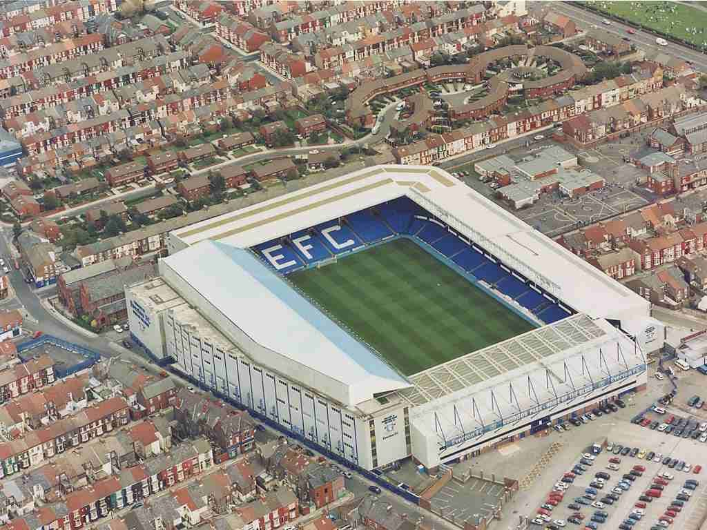 Goodison Park, Liverpool. Home Ground Of Everton Football