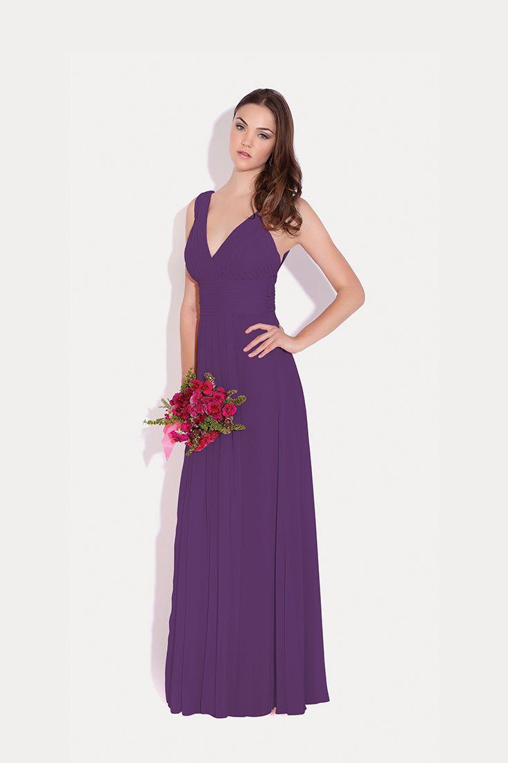 Vestidos ##EvaBrazzi para tus #DamasDeHonor #Inspiración en #Morado ...