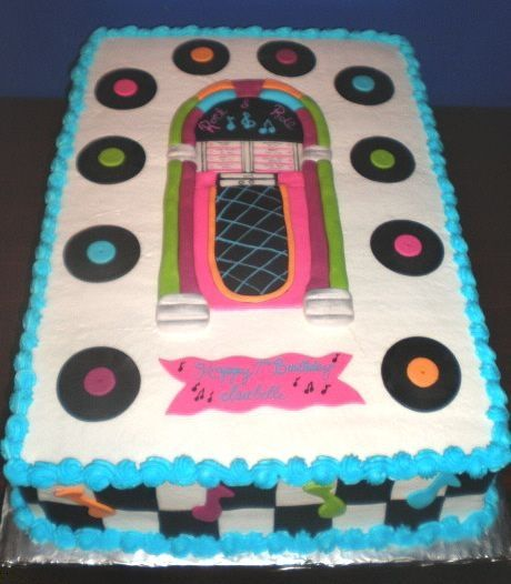 50s Style Juke Box Birthday Cakes