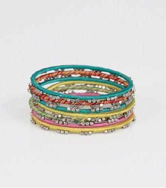 53158124d211 Set 8 pulseras multicolores con abalorios Moda Mujer Z7 Venca ...