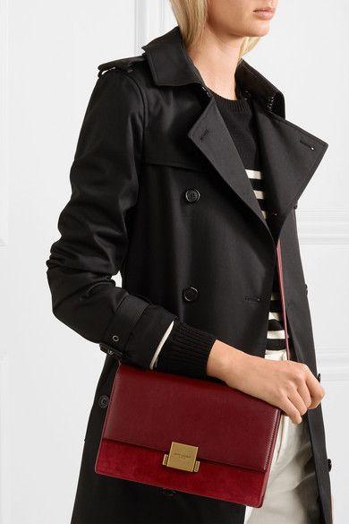304f747f7ad4b Saint Laurent - Bellechasse Leather And Suede Shoulder Bag - Burgundy