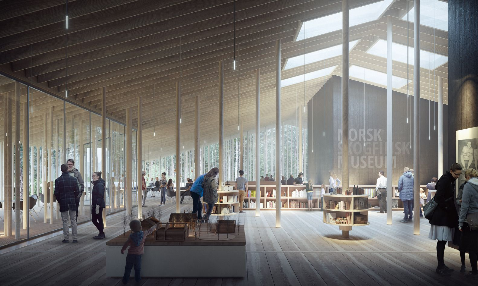 Gallery of young architects win first prize for museum of forest finn culture in norway 2