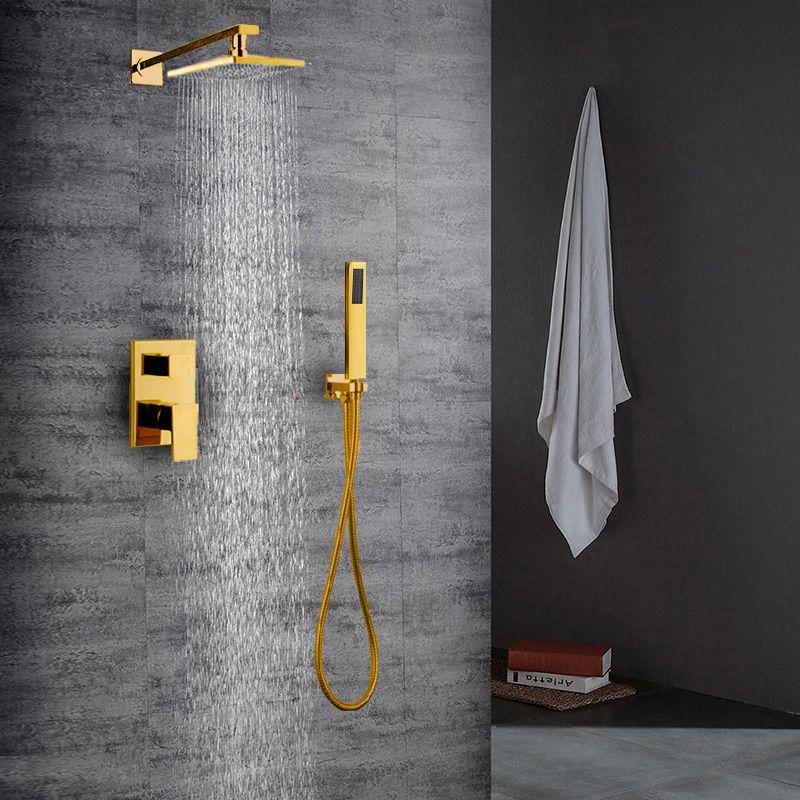 Regendusche Set Unterputz Mit Handbrause In Gold Regendusche Badezimmer Mit Dusche Dusche