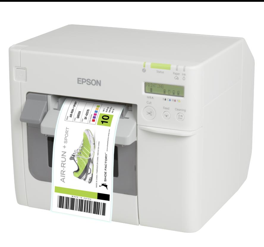 Epson Tm C3500 Inkjet Color Label Printer C31cd54011 Printing Labels Label Printer Inkjet Labels