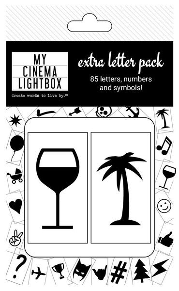 words from letters cinema lightbox letter pack front my cinema 3594