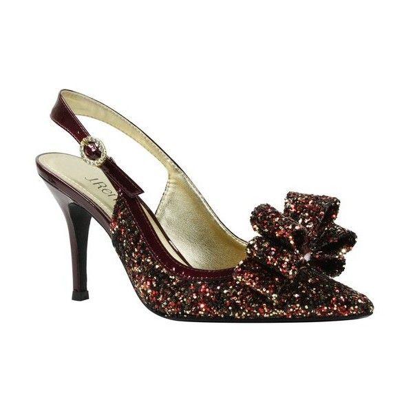 Charise Glitter Fabric Slingback Bow Dress Pumps JtQBf