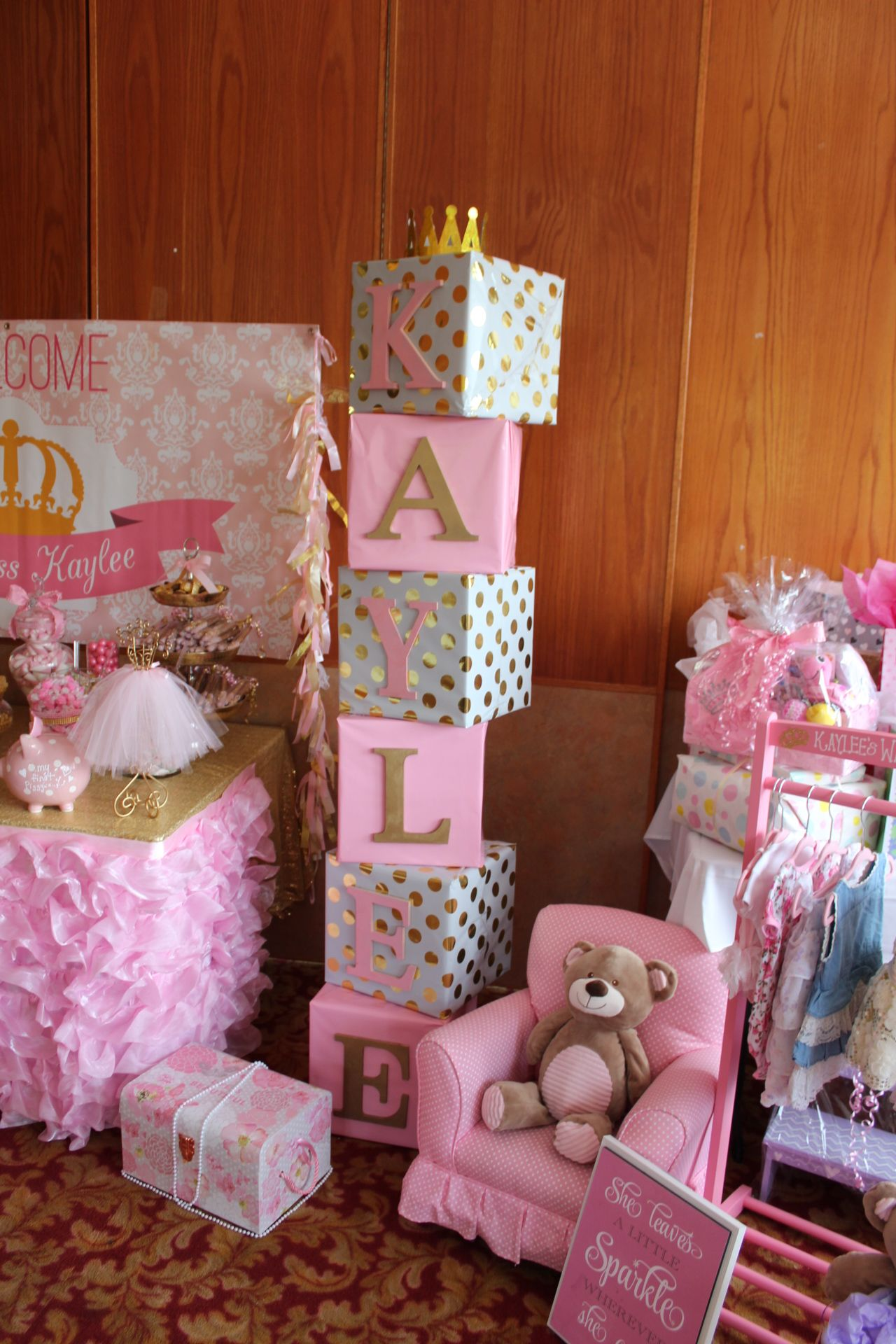 Block Letters Baby Shower With Images Baby Shower Themes Girl