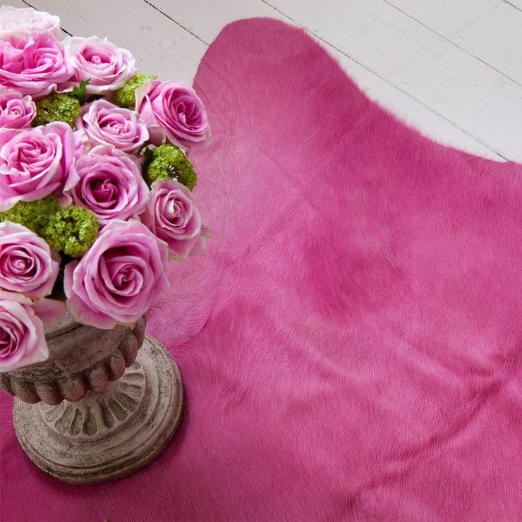 Pink cowhide rug   living room pink \'n\' yeller   Pinterest   Faux ...