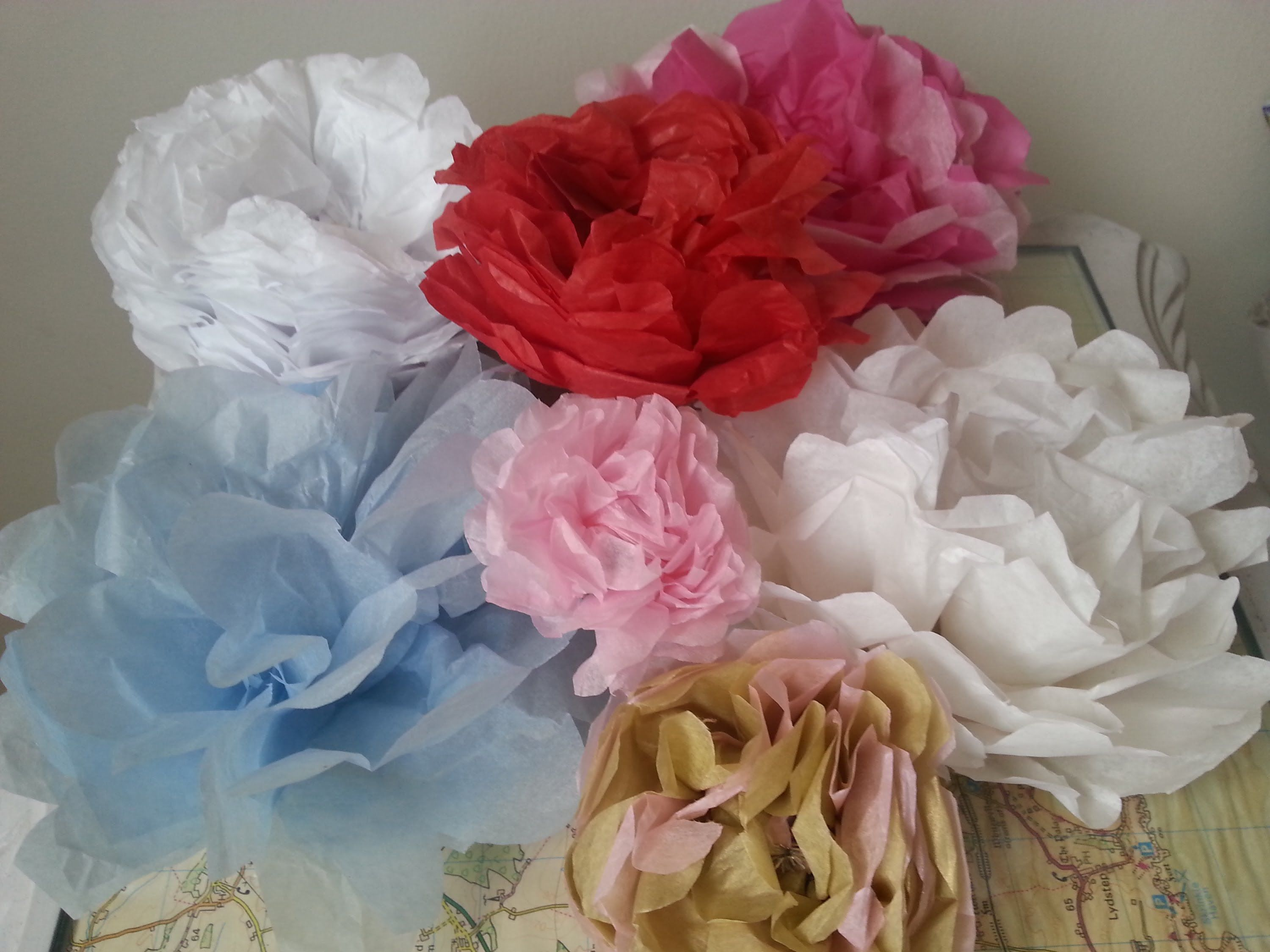 Craft Rose How To Make Tissue Paper Flowers Theta Sigma Chi