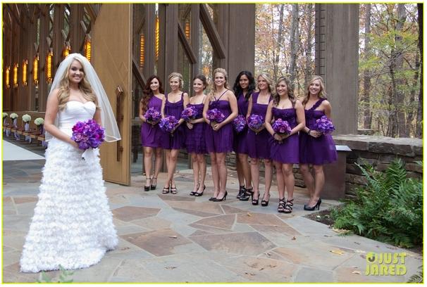 Demi Lovato At Tiffany Thornton Wedding