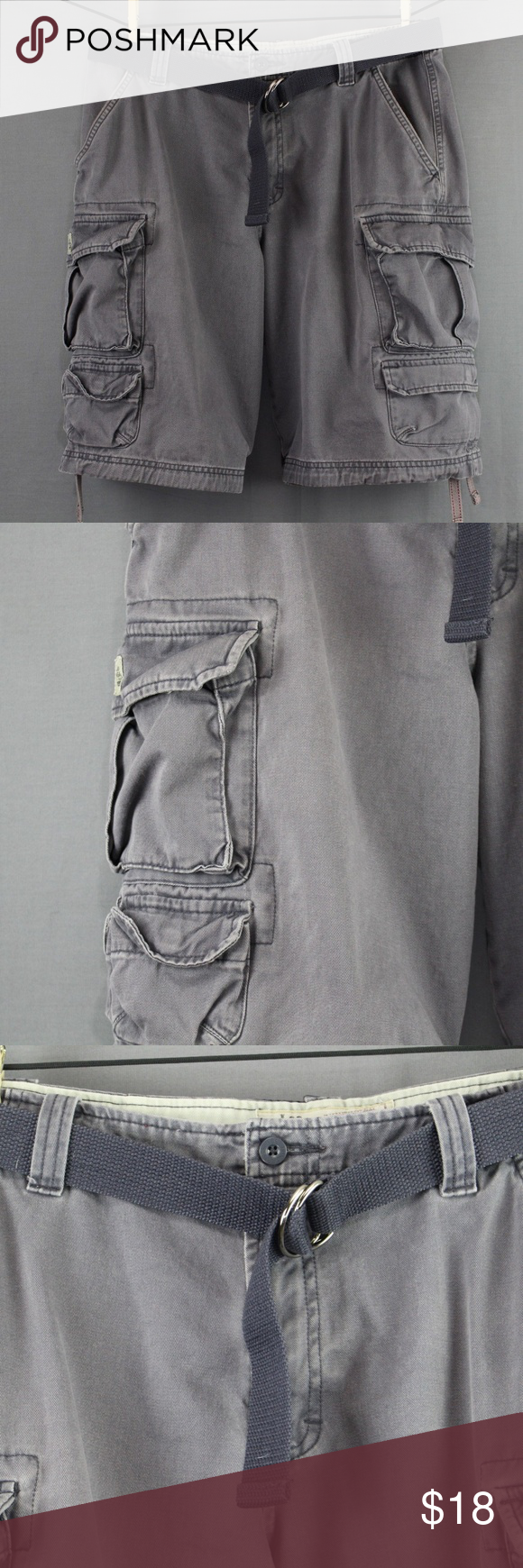 b1b593d7ba Lee Dungarees Cargo Shorts Size 32 Gray Mens Lee Dungarees Cargo Shorts  Size 32 Gray Mens