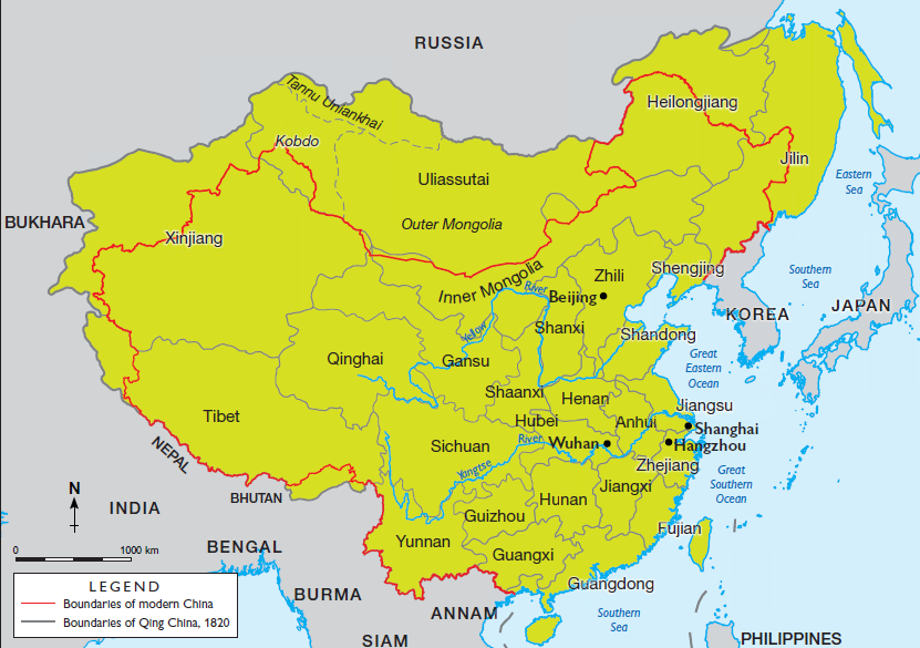 Image result for qing dynasty map